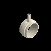 AGRU PVDF UHP Verloop t-stuk 90° d225 -d40 -d225 Stomplas SDR21 35307224021