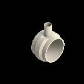 AGRU PVDF UHP Verloop t-stuk 90° d225 -d63 -d225 Stomplas SDR21 35307226321