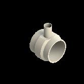 AGRU PVDF UHP Verloop t-stuk 90° d225 -d75 -d225 Stomplas SDR21 35307227521