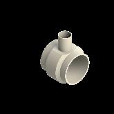 AGRU PVDF UHP Verloop t-stuk 90° d225 -d90 -d225 Stomplas SDR21 35307229021