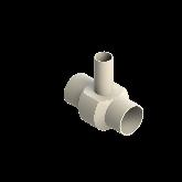 AGRU PVDF UHP Verloop t-stuk 90° d90 -d50 -d90 Stomplas SDR21 35307905021