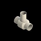 AGRU PVDF UHP Verloop t-stuk 90° d90 -d75 -d90 Stomplas SDR21 35307907521