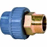 "GF ABS /Messing 3-delige koppeling d32 -1"" Sok/bu dr PN10 729550908"
