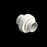 Agru PVDF UHP 3-delige koppeling Type 24 d63 Stomplas SDR21 35024006321
