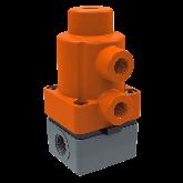 ASV PVC-U PNEUMATISCH MEMBRAANAFSLUITER MV 308 NORMALLY CLOSED d16 PN6 EPDM SOK 126852