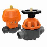 ASV PVC-U Membraanafsluiter MV 310 d110 PN10 PTFE/EPDM Flens 210224
