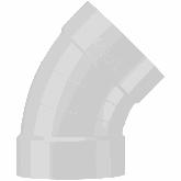 Beck PVDF Ventilatie Bocht 45° d110 Sok  B6450110