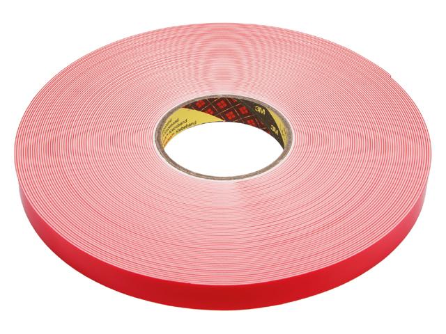 3M Vhb tape 4950F Wit 2 zijd klevend Rol 25mmx1,1mm l=33m
