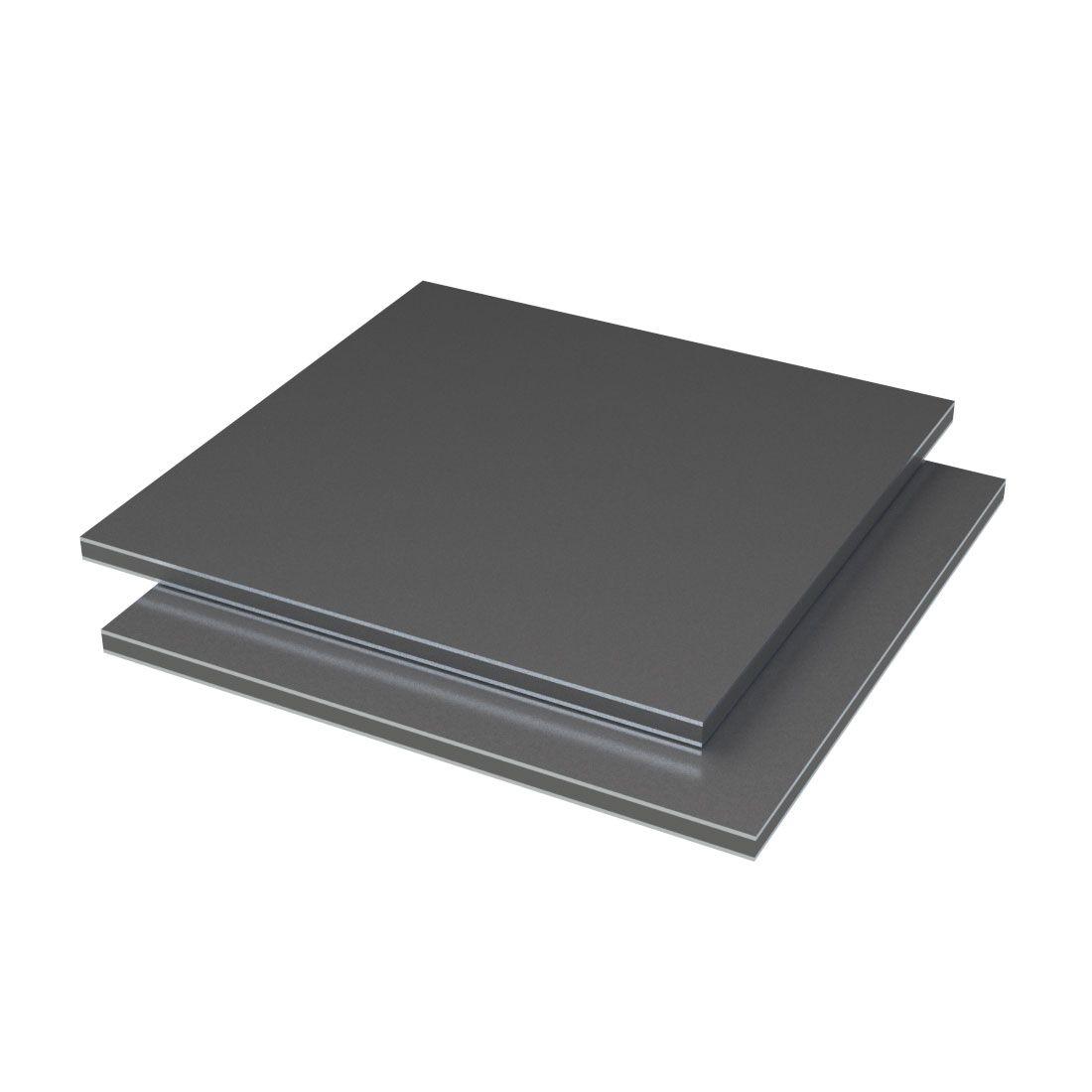 Etalbond Aluminium /PE FR Antraciet 428 4050x1500x4mm Vhdpe gecoat
