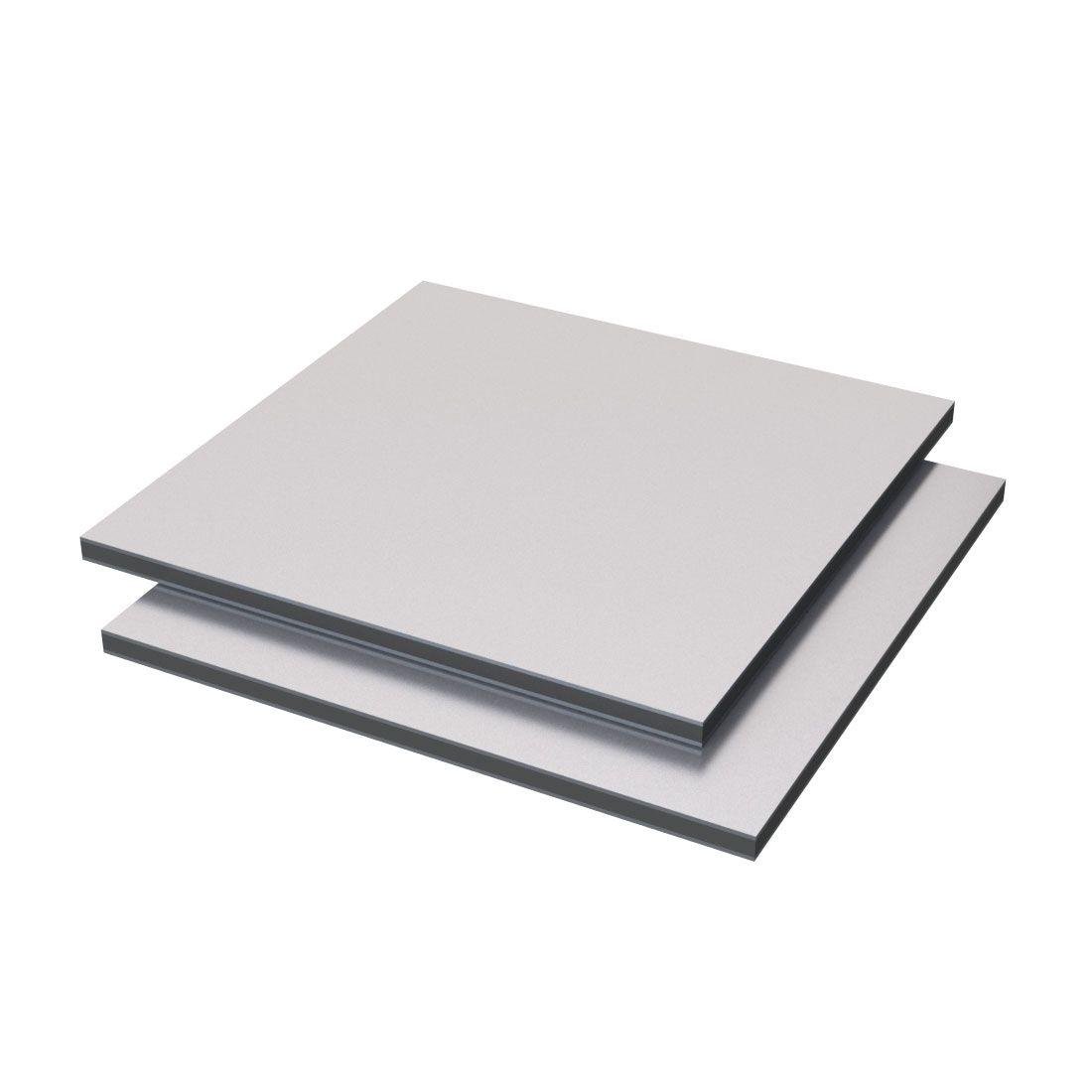 Etalbond Aluminium /PE FR Grijs Metallic 104 4050x1500x4mm Pvdf2 gecoat