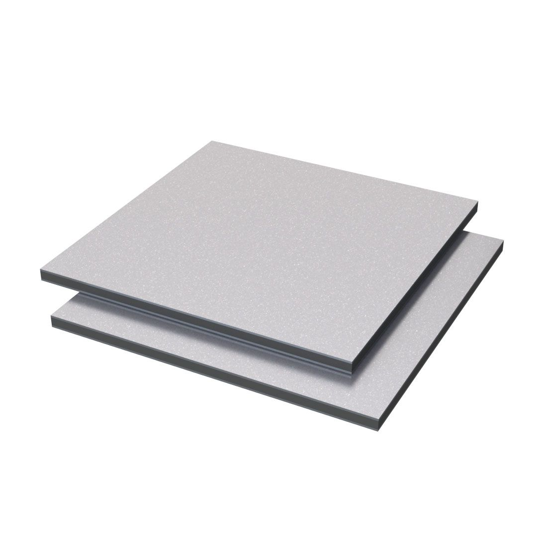 Etalbond Aluminium /PE FR Zilver Metallic 102 4050x1500x4mm Pvdf2 gecoat