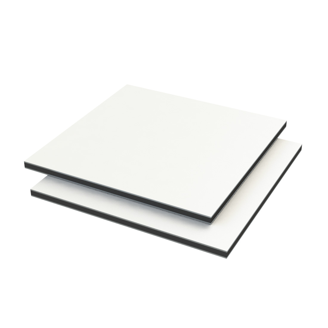 Vibond h Aluminium /PE 40% glans Dig wit 3050x1500x2mm