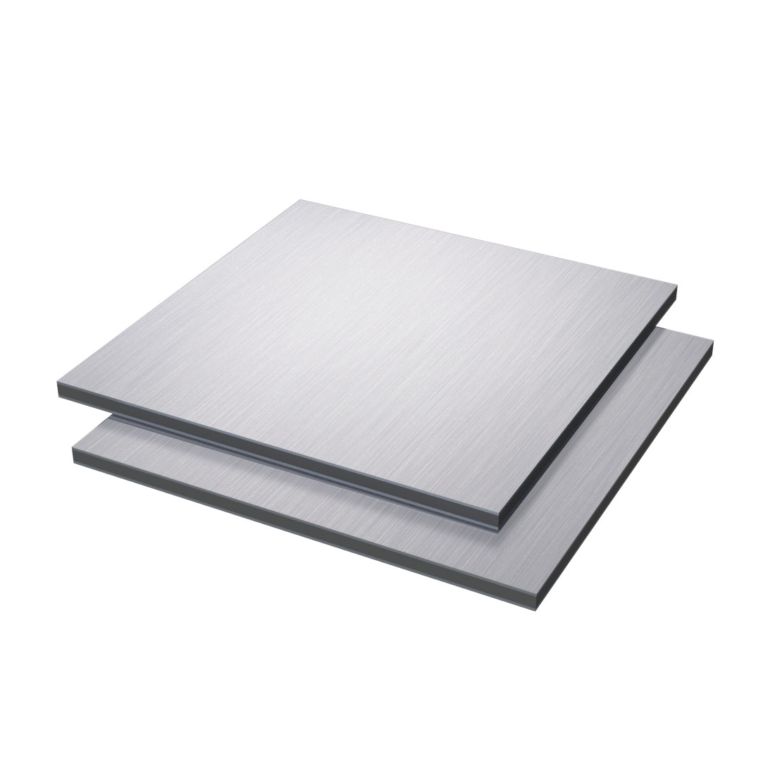 Vibond Aluminium /PE Brushed Zilver Bbl8001/bb6001 3050x1500x3mm