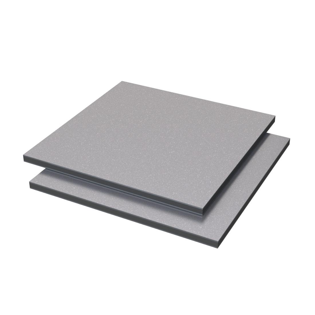Vibond Aluminium /PE Glitter mat Zilver Bb6018/bb6001 3050x1500x3mm