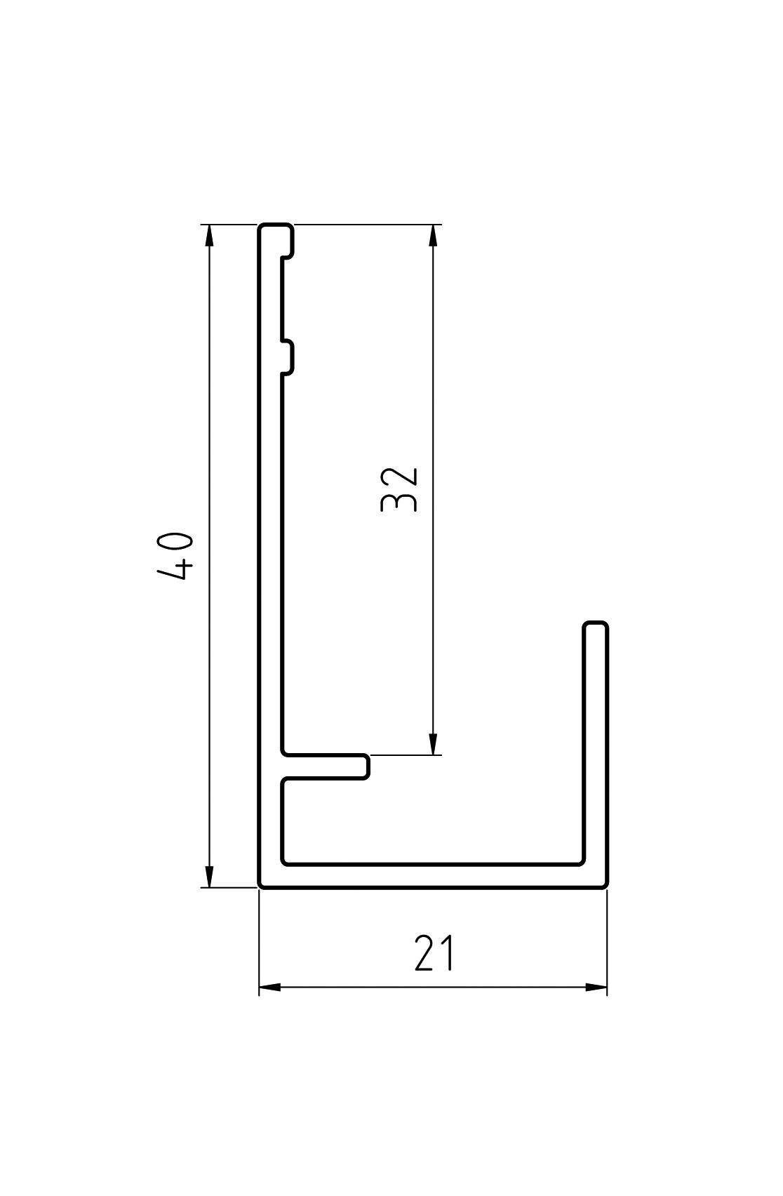 Gevelit Aluminium Startprofiel Antraciet 7016 Verticaal l=4m