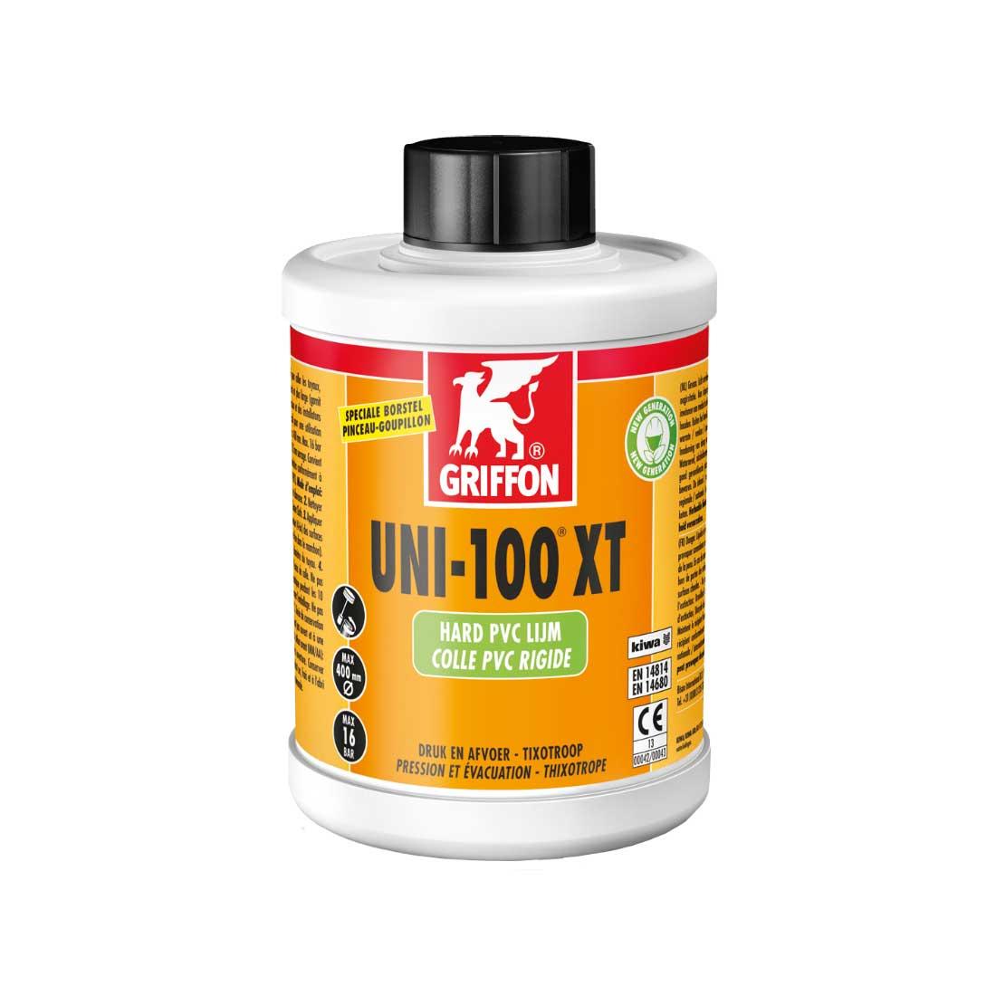 Griffon Lijm UNI100 XT THF vrij Tbv PVC Incl. lijmborstel 250ml