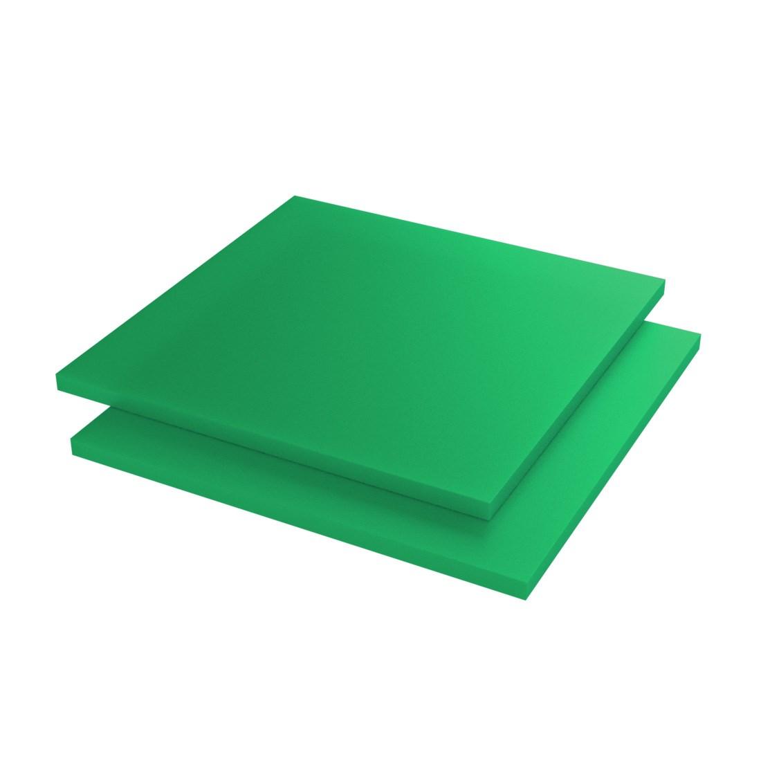 Vinplast HMPE500 Plaat Geperst/gevlakt Groen 2000x1000x10mm