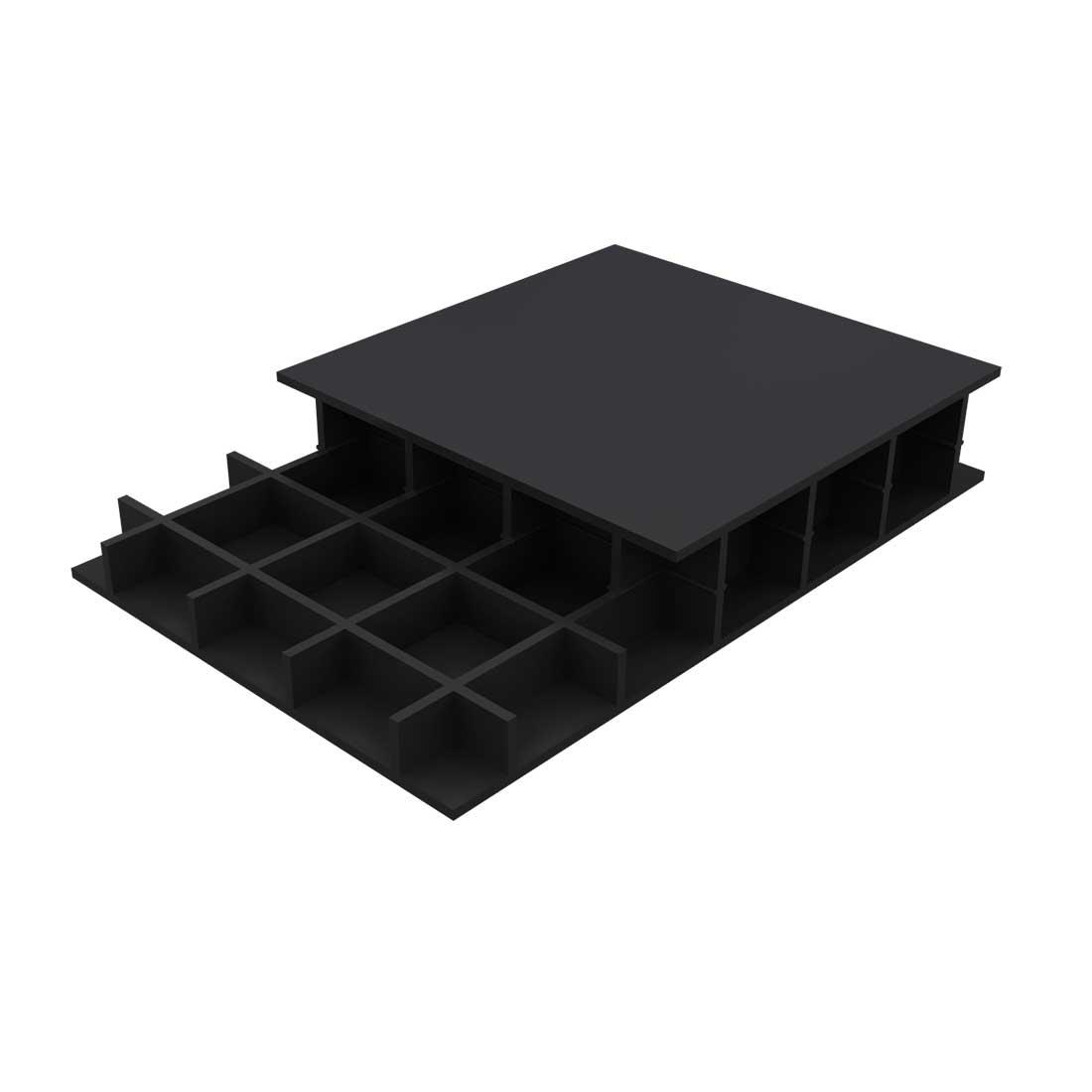 Paneltim PE Constructieplaat 50/50 Zwart 2600x1000x50mm