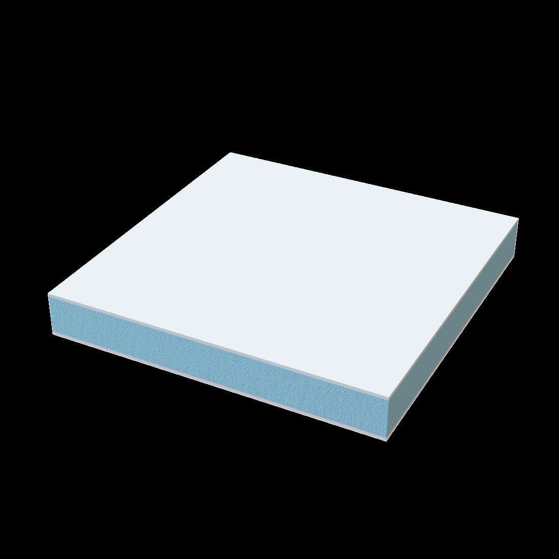 Vikuplex wall PET+GFR Plaat TK RG80 Gel coated Wit ca. RAL9016 4500x2200x25mm 695163