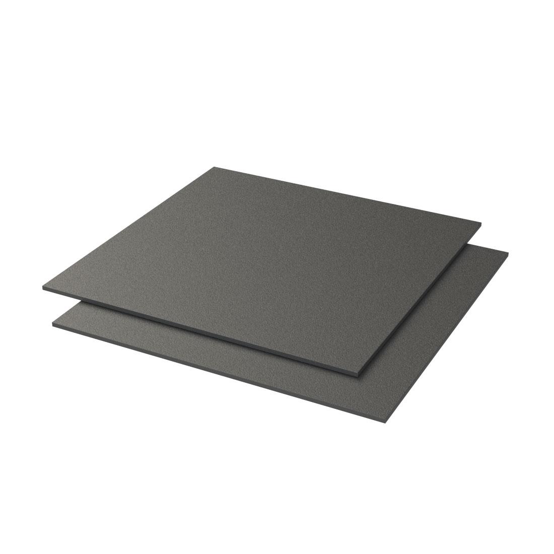 Vikureen PS Plaat Nerf 3 Zwart 840 2000x1200x1,5mm