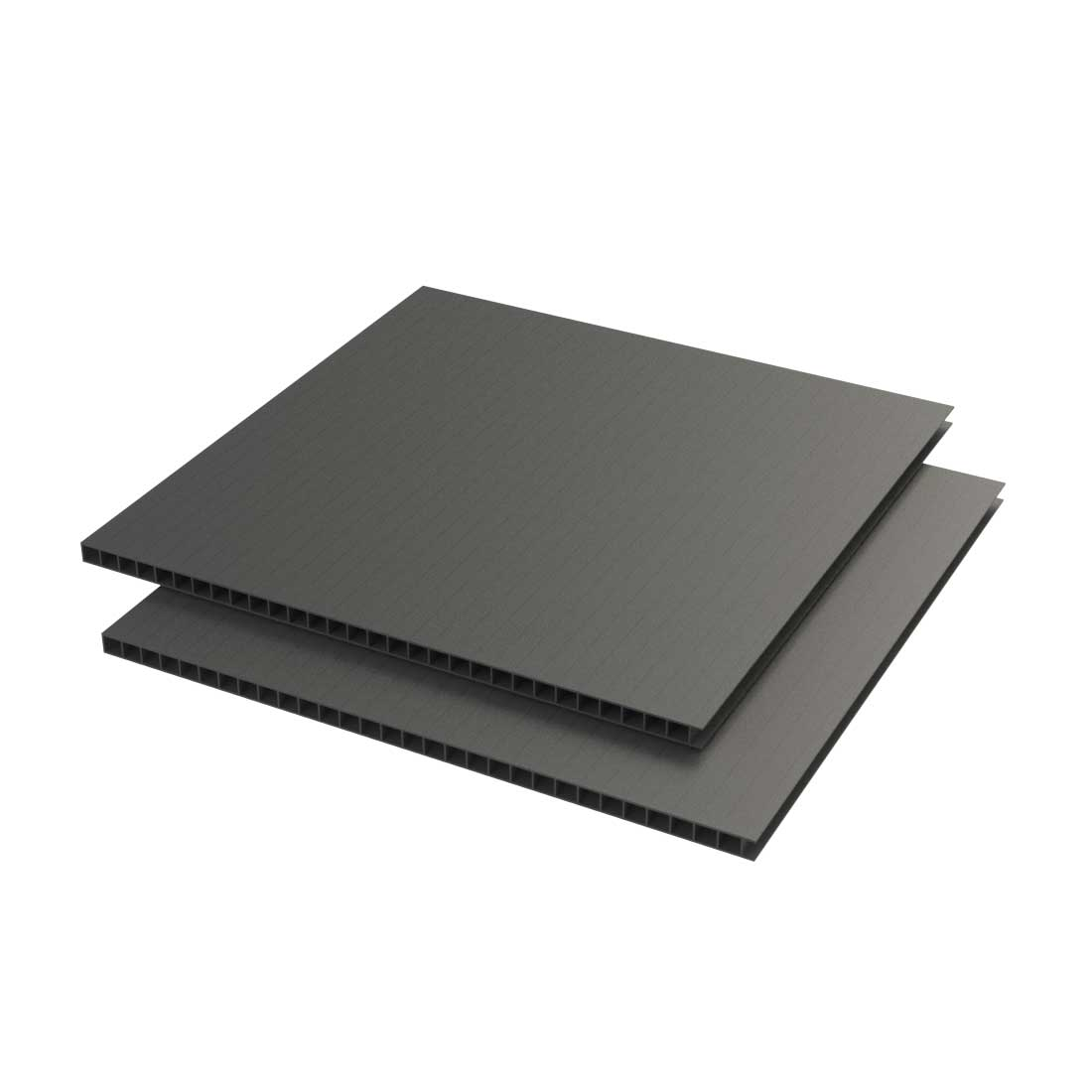 Vikuprop PP Plaat 600 gr/m2 Corona uv Zwart 1410x1010x3,5mm