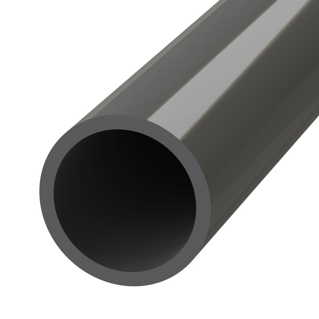 WKT PVC-U Buis Grijs RAL7011 d10x1,2mmx5m PN20 106010