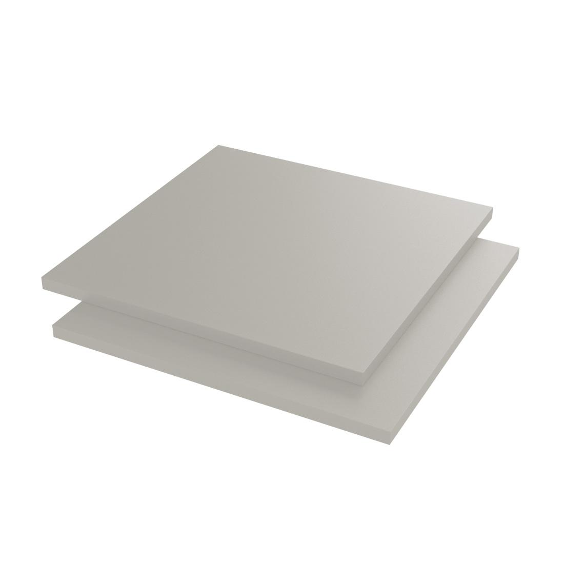 Vinplast PVC Plaat Caw XT Lichtgrijs RAL7035 2000x1000x1mm