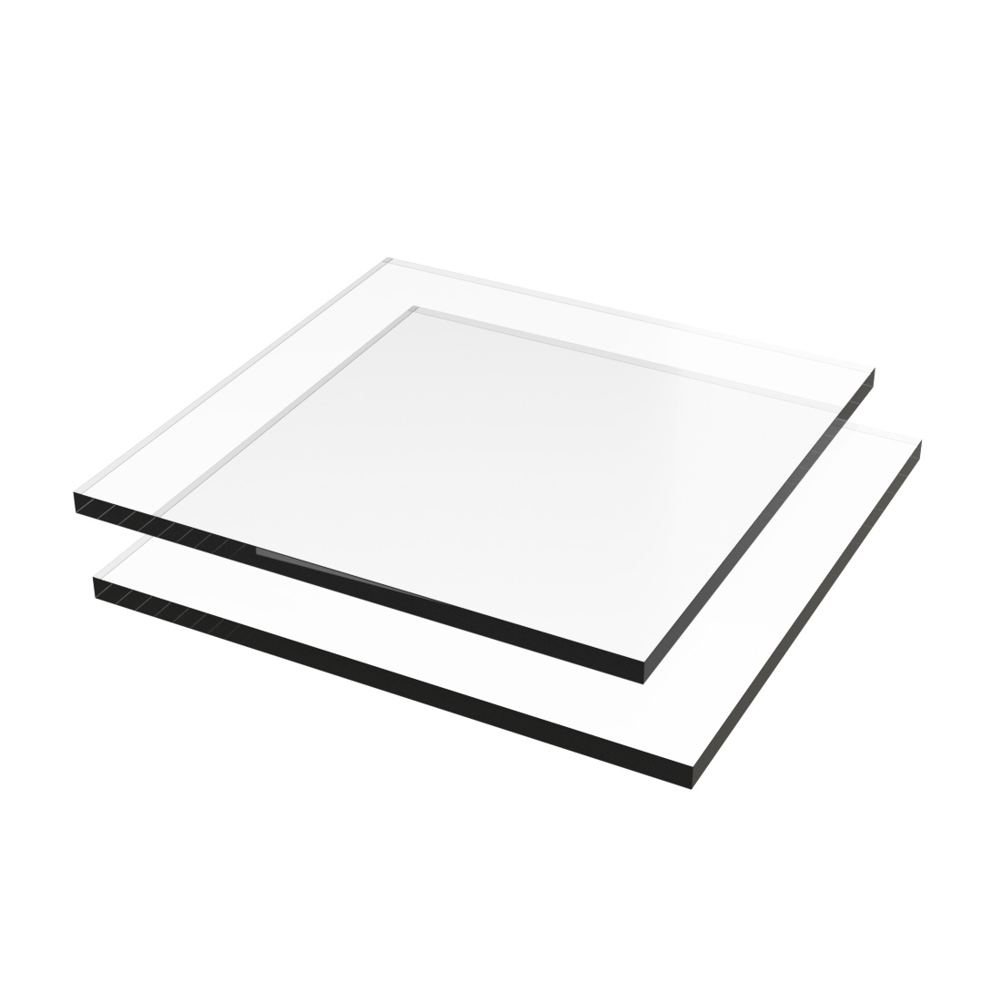 Vinplast PVC Plaat SX XT Transparant Dubbelzijdig folie 2000x1000x1mm