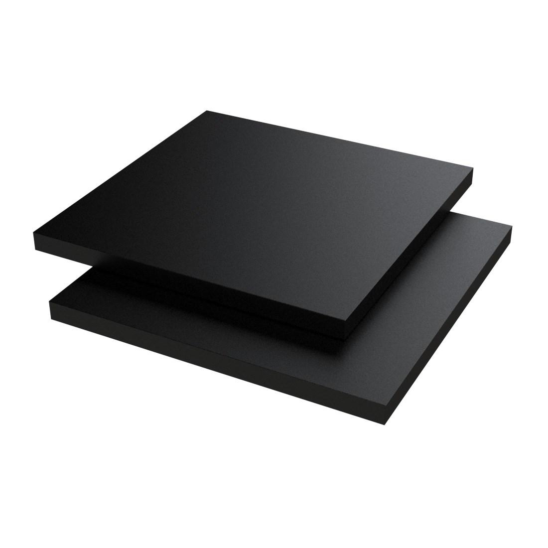 Vinplast PVC Plaat Caw XT Zwart Enkelzijdig folie 2000x1000x1mm