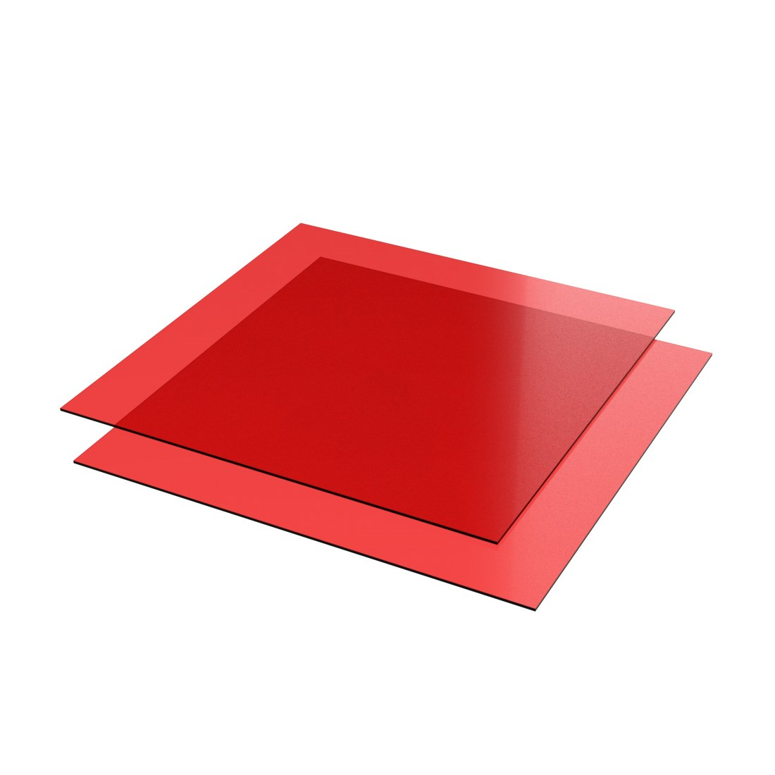 Vikunyl PVC Rood transparant 0484 Glans 1400x1000x0,23mm