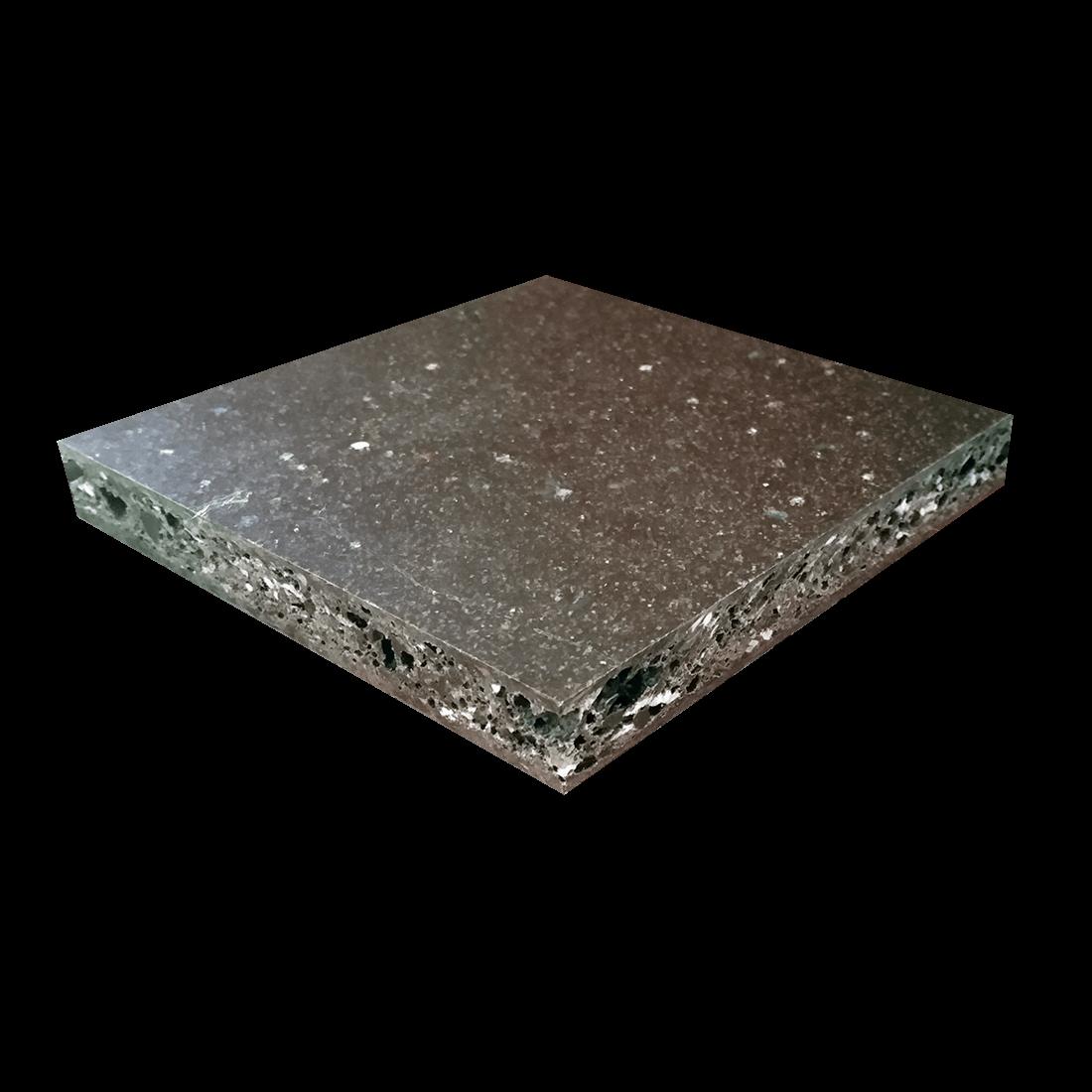 Vinkboard PE Plaat HI Recycle Zwart bont 2440x1220x19mm