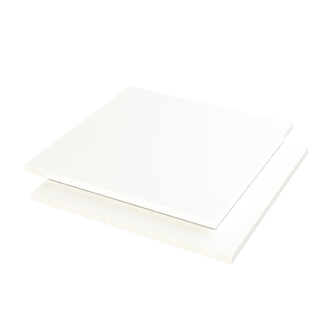 Vikupor J PVC Plaat Geschuimd Wit Enkelzijdig folie 4050x2050x10mm