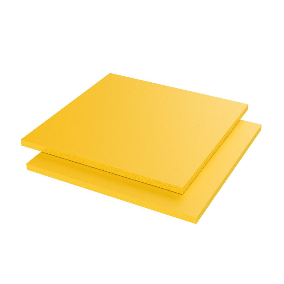 Vikupor PVC Plaat Geschuimd Geel HP57 Enkelzijdig folie 3050x1560x3mm