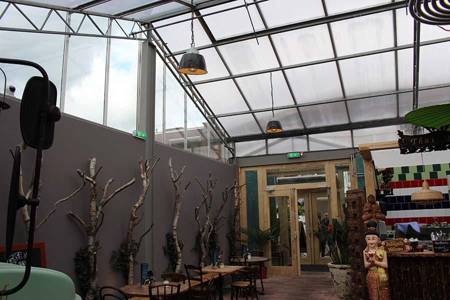 Foodhall Arnhem polycarbonaat dak | Vink Kunststoffen